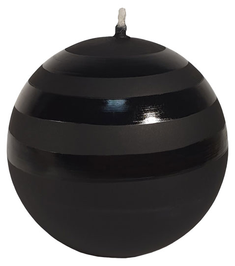 "Candle bowl ""Capella"", black"