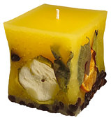 Candle cuboid Potpourri Fruechte (fruits) lemon